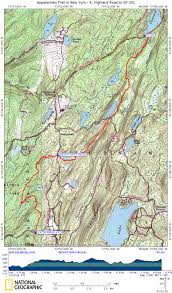New York Appalachian Trail Map by At In Ny Fahnestock State Park