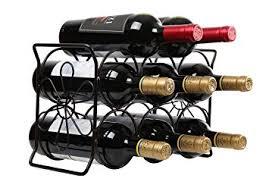 pattern for wine bottle holder amazon com finnhomy 6 bottle wine rack with flower pattern wine