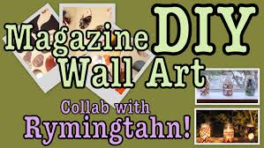 diy easy magazine wall art decor collab with rymingtahn youtube