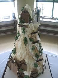 ski mountain wedding cake snowboard wedding mountain cake