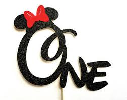 Red Minnie Mouse Cake Decorations Minnie Cake Topper Etsy