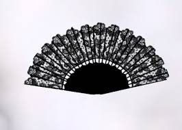 lace fan second marketplace black animated lace fan