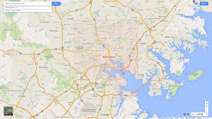 Maryland Map Baltimore Maryland Karte