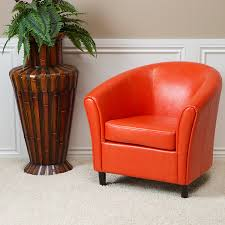 Tub Leather Chairs Amazon Com Best Selling Napoli Orange Leather Club Chair Kitchen