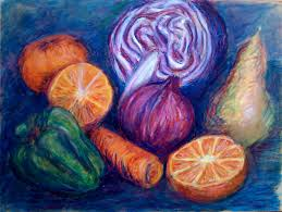 still life drawings of fruits and vegetables how to draw fruits