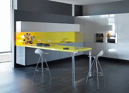 yellow kitchen theme ideas modern kitchen decoration ideas from white wall interior with