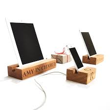 wooden stand for iphone by the oak rope company