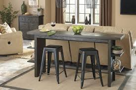 long counter height table lamoille dark gray long counter height dining table from ashley