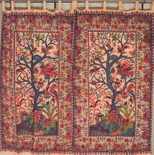 exotic tree of life indian cotton 2 fabric curtains tab top window