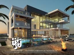 3d exterior night rendering