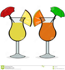 margarita glass cartoon umbrella drinks stock images image 37859814