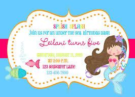 mermaid invitation template