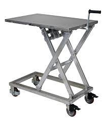 vestil cart 660 m pss partially stainless steel mechanical scissor