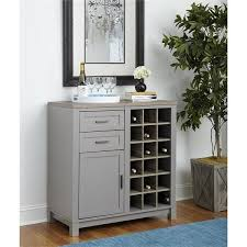 Oak Bar Cabinet Ameriwood Home Carver Grey Sonoma Oak Bar Cabinet Free Shipping