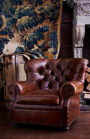 Swivel Club Chair Leather Furniture Bassett Chairs Leather Club Chair Oversized Tufted