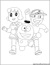 kiteretsu coloring page remember this pinterest cartoon