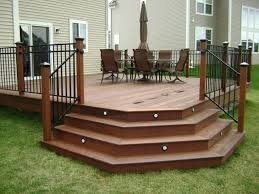 Corner Deck Stairs Design Ipe Hardwood Deck Chicago By Millennium Construction