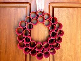 christmas home made decorations homemade christmas decorations paper roll wreath