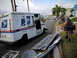 postal vehicles hurricane maria us postmen emerge as heroes of puerto rico u0027s