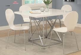 36 by 48 table i 1046 i 1048 white glossy chrome metal 36 x 48 dining table