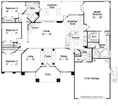 open floor house plans one story one story open floor plans with 4 bedrooms one country
