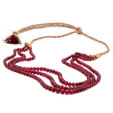ruby bead necklace images Triple strand ruby bead necklace 309 86 carats not dyed once jpg
