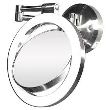 wall mounted magnifying mirror with light enchanting 80 wall mounted shaving mirror design decoration of wall