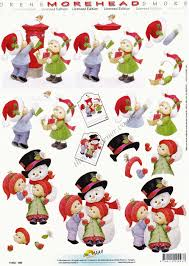 morehead posting letter to santa 3d decoupage paper craft sheet