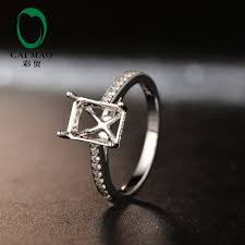 5mm diamond free shipping 6 5x8 5mm emerald cut 14k white gold diamond