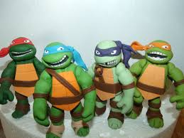 tmnt cake topper 4 mutant turtles fondant cake toppers
