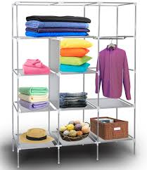 oxgord portable storage organizer wardrobe closet u0026 shoe rack