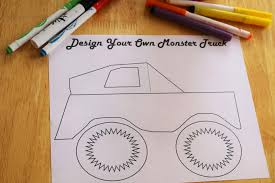 design your own monster truck printable time snippets