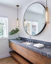 bathroom round mirror bathroom mirrors are going full circle fox homes