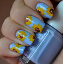sunflowers saves the day easy nail tutorial youtube