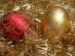 ornaments and gold ornaments and