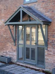 Front Door Awnings Wood Best 25 Front Door Overhang Ideas On Pinterest Front Door