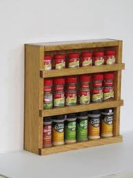 Wall Mount Spice Cabinet With Doors Wood Wooden Spice Rack Counter Top Or Wall Mount