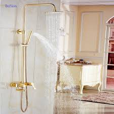 copper bath faucets promotion shop for promotional copper bath dofaso a shower bathroom all copper golden and rose antique brass bath shower faucet bathroom vintage shower faucets