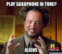 Saxophone Meme - play saxophone in tune
