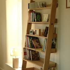 furniture astounding ladder bookshelves with oak wood material