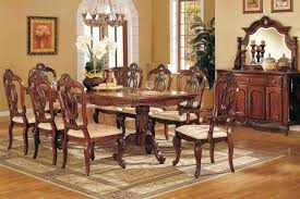 Vintage Dining Room Furniture Formal Dining Room Sets Dark Brown Varnish Long Wooden Dining