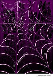 halloween background with purple spiderweb stock illustration i1078481 at featurepics