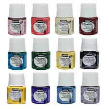 pebeo ceramic paint 45ml pots all colours available for