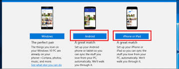 how to ios apps on android how to set up the phone companion app in windows 10 on android and ios