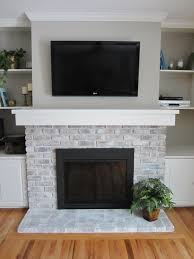 how to whitewash a fireplace brick fireplace bricks and