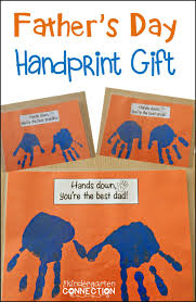 father u0027s day handprint gift the kindergarten connection
