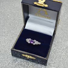 large amethyst diamond white gold butterfly amethyst u0026 diamond engagement ring 14k white gold 0 88ct