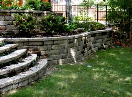 Retaining Wall Stairs Design Retaining Wall Design To Create Beautiful Landscaping Idea