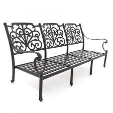 evangeline cast aluminum patio sofa by lakeview outdoor designs
