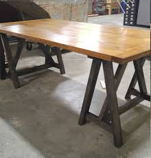 Rustic Desk Ideas Rustic Desk Industrial Desk Loft Style Take Sawhorse Wood